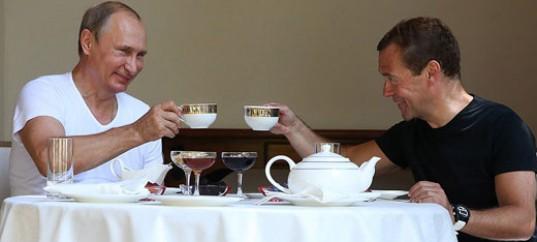 Путин и Медведев готовят на нашем гриле Vulkan 230