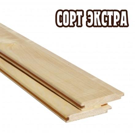 Вагонка осина, сорт Extra (1-1.5 м)