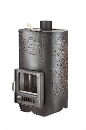 Дровяная печь Vohringer «Уют – 25» в кожухе (ПФ)