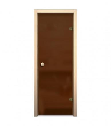 Дверь для бани и сауны стеклянная 180*70 см