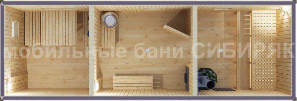 Каркасная баня Оазис