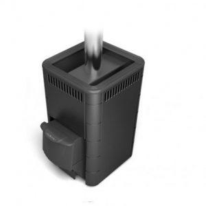 Печь для бани каменка Карасу Carbon с дверцей антрацит