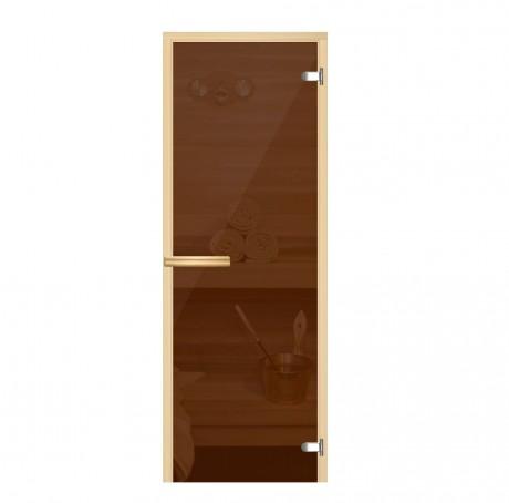 Дверь для бани и сауны стеклянная 190*70 см