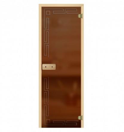 Стеклянная дверь для бани София
