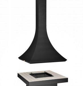 Ағаштағы аралдағы камин Лофт - 05