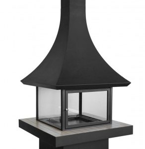 Ағаштағы аралдағы камин Лофт - 06