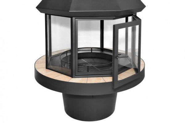 Островной камин на дровах Loft – 14
