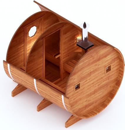 Круглая баня-бочка 3.5 м (кедр)
