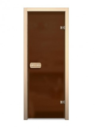 Дверь для сауны 690*1890 (матовое - бронзовое)