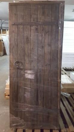 Дверь для бани Брашированная