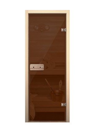 Стеклянная дверь для сауны 690*1890 (Нарвиа)