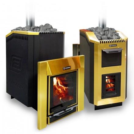 Банная печка на дровах «Ермак – 30 Люкс Gold» (НС)