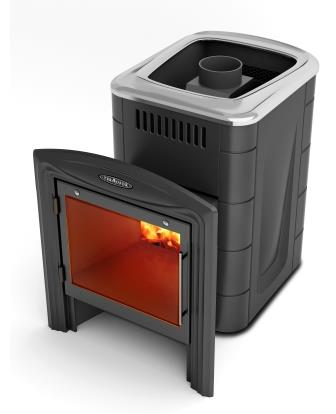 Печь банная каменка компакт 2013 Carbon Витра антрацит