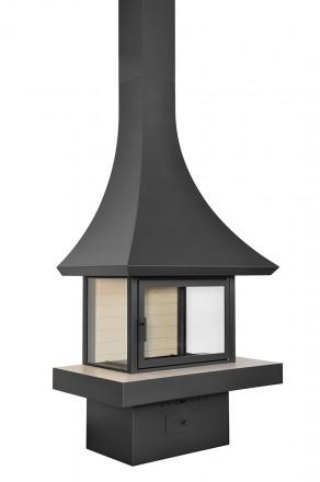 Пристенный камин на дровах Loft – 09
