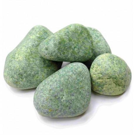 Камень для бани Жадеит шлифованный