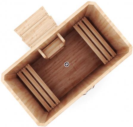 Купель прямоугольная из кедра (78*120 см)