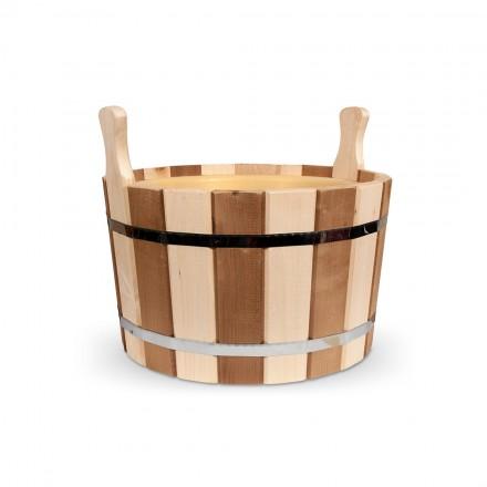 Шайка для бани из липы - 20 литров (пласт. вставка - термо)
