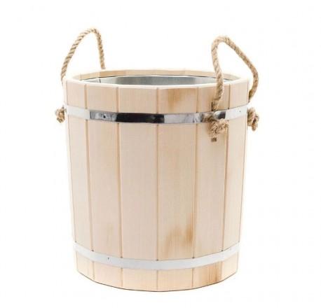 Ведро для бани из липы - 15 литров (оцинк. вставка)