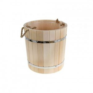 Линден ваннаға арналған шелек - 15 литр (пластикалық кірістіру)