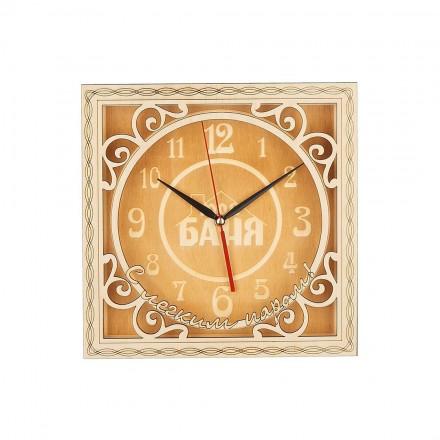 Часы для бани из липы