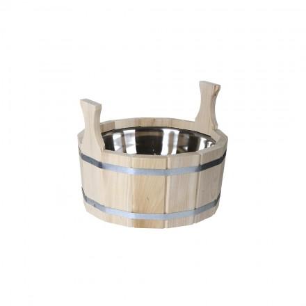 Шайка для бани из липы - 17 литров (нерж.вставка)