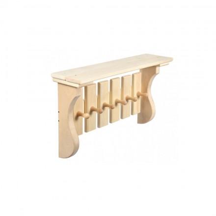 Вешалка для бани из липы (6 крючков)