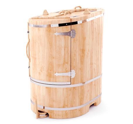 Фитобочка профессиональная овальная со скосом из кедра – 130*78*100 см.