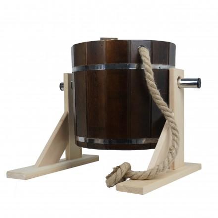 Обливное устройство кедр 17 л. КОЛЕРОВАННОЕ темный орех с пластиковой вставкой