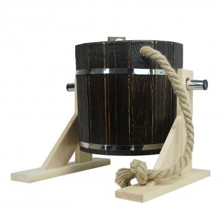Обливное устройство кедр 17 л. КОЛЕРОВАННОЕ венге +брашировка с пластиковой вставкой
