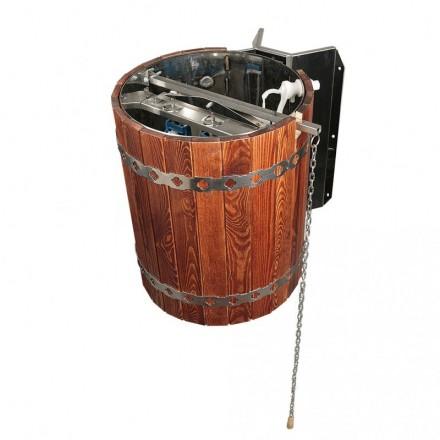Обливное устройство для бани «Ливень» (обрамление – красное дерево)