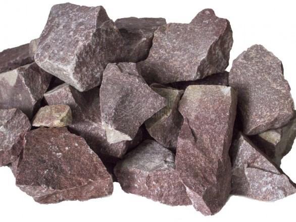 Камень кварцит Ежевика обвалованный в коробке (20 кг)