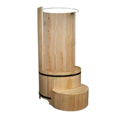 Круглая душевая кабина из кедра (диаметр – 90 см)