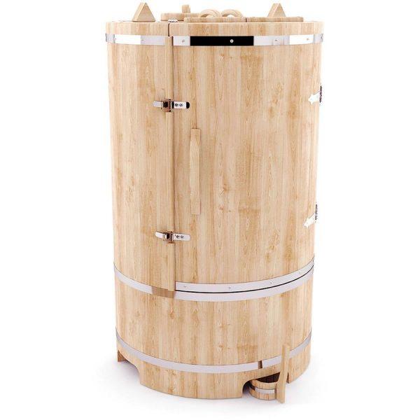 Фитобочка круглая гигант профессиональная из кедра – 130*100 см.