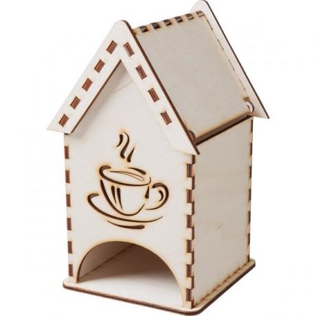 Домик для хранения чая, деревянный