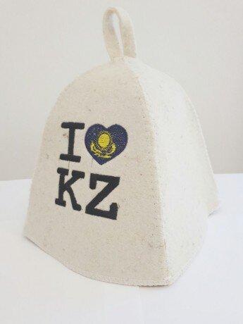 Шапка для бани «I love Kz»