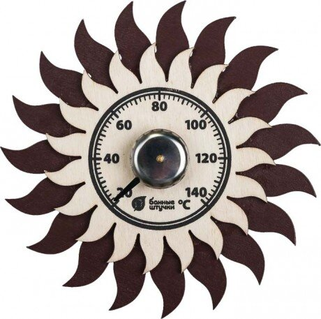 Термометр для бани Солнышко 13х13