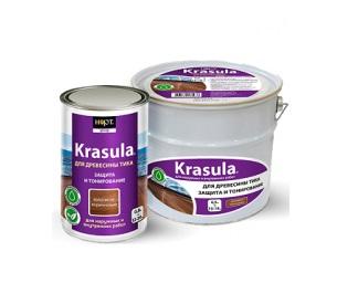 Защитно-декоративный состав Krasula для древесины тика