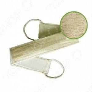 Мочалка из рами  с сегментами хлопка и веревочными ручками