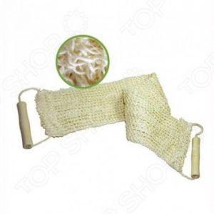 Мочалка из сизаля с деревянными ручками