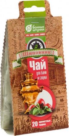 """Чай """"Шиповник"""" 20 шт. х 2 г. для бани и сауны"""