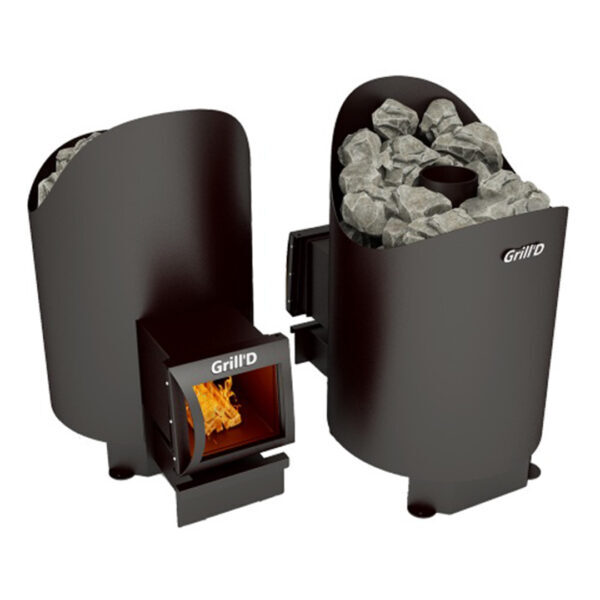 на дровах Aurora 160 long GrillD 1 Дровяная банная печь Grill'D Aurora 160 long