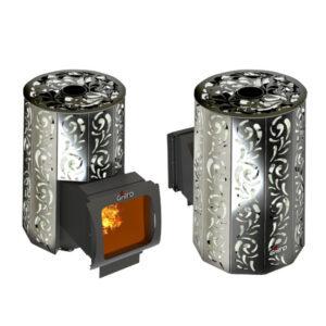 Дровяная банная печь Violet Lоng Window Max Grill'D (камень 100 кг)