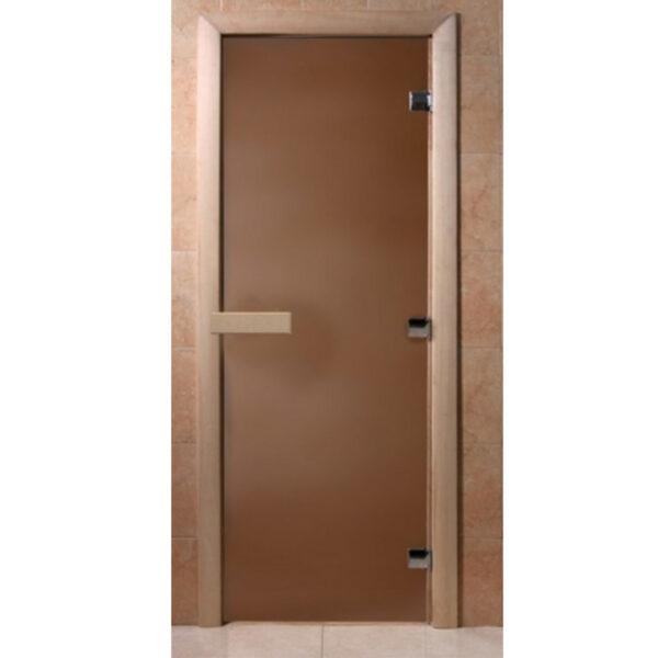 """ДВЕРЬ ТЕПЛАЯ НОЧЬ БРОНЗА МАТОВАЯ Стеклянная дверь для бани """"Теплая ночь"""" 190*70"""