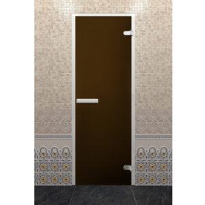 Стеклянная дверь Хамам Лайт «Бронза» (190*70 - Z-образный профиль)
