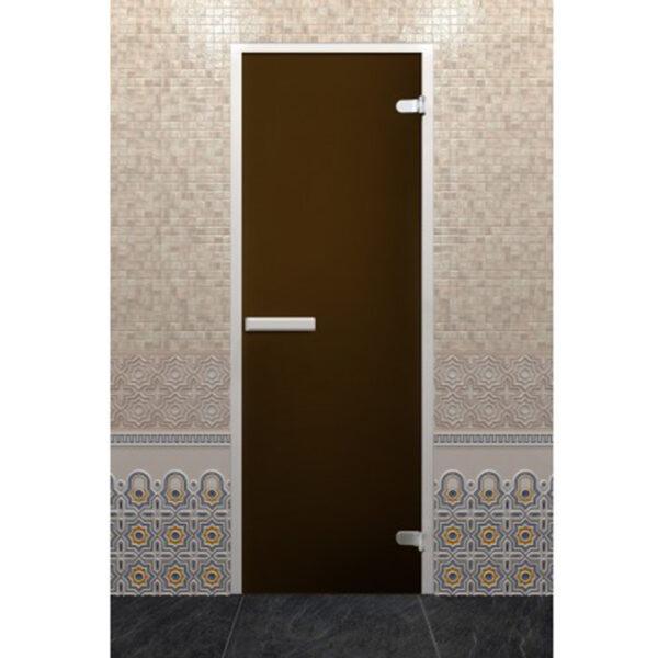 ДВЕРЬ ХАММАМ ЛАЙТ ЗИГЗАГ Стеклянная дверь Хамам Лайт «Бронза» (190*70 - Z-образный профиль)
