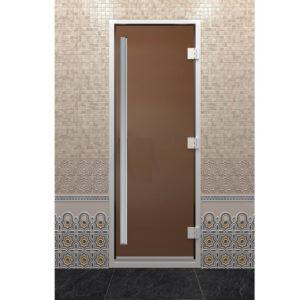 Стеклянная дверь для бани Хамам «Престиж» - золото (190*70)