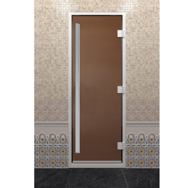 ДВЕРЬ ХАММАМ ПРЕСТИЖ ЗОЛОТО Стеклянная дверь для бани Хамам «Престиж» - золото (190*70)