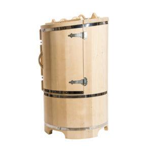 Круглая кедровая бочка со скосом 130*78*4 см