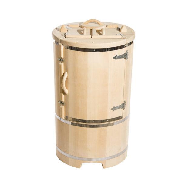 кедровая бочка со скосом 130 78 4 1 см Круглая кедровая бочка – 130*78*4 см