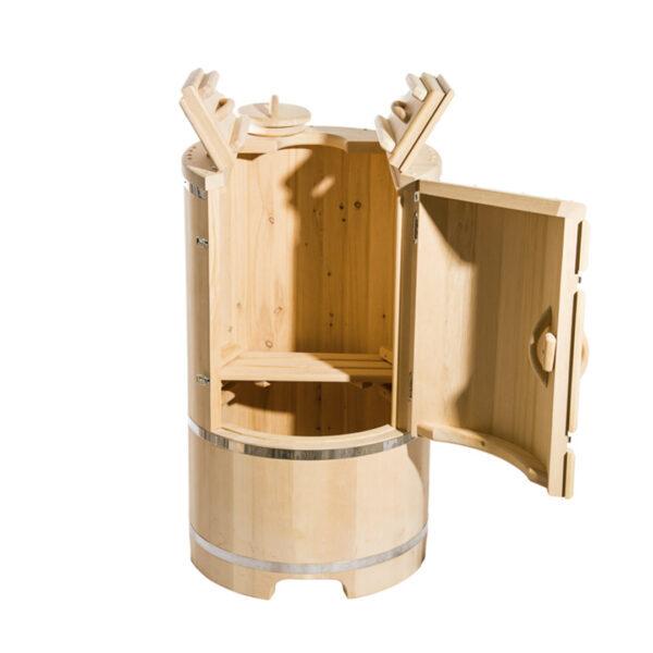 кедровая бочка со скосом 130 78 4 44 см Круглая кедровая бочка со скосом 130*78*4 см